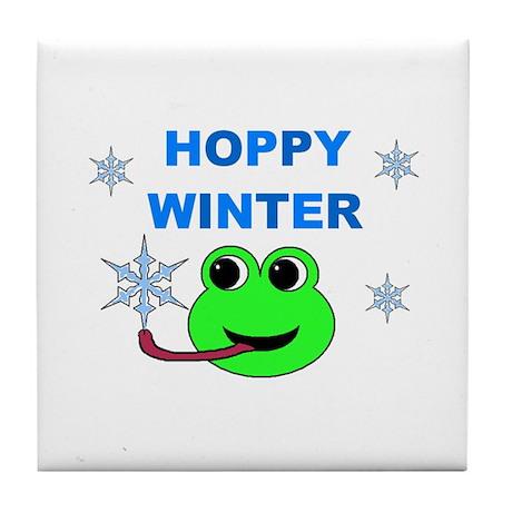 HOPPY WINTER Tile Coaster