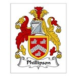 Phillipson Family Crest Small Poster