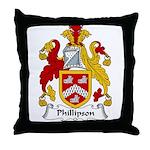 Phillipson Family Crest Throw Pillow