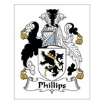 Phillips Family Crest Small Poster