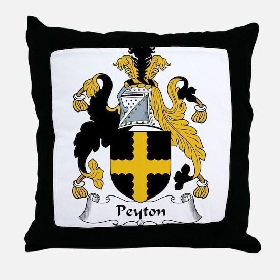 Peyton Family Crest Throw Pillow