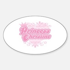 """Princess Christine"" Oval Decal"