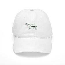 Stay Fly Fishing Lure Green Logo Graphic Baseball Cap