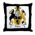 Peters Family Crest Throw Pillow