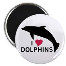 I Heart Dolphins Magnet