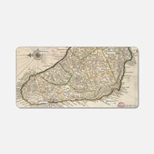 Vintage Map of Barbados (17 Aluminum License Plate