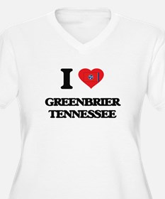 I love Greenbrier Tennessee Plus Size T-Shirt