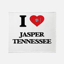 I love Jasper Tennessee Throw Blanket