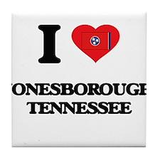 I love Jonesborough Tennessee Tile Coaster