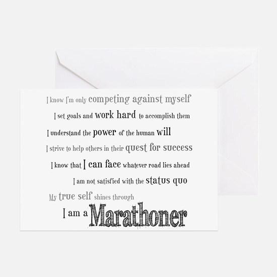 I Am a Marathoner- Congratulations Card