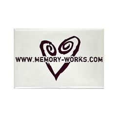 MW Heart Logo Rectangle Magnet (100 pack)