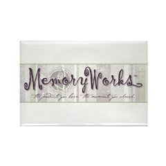 MW Striped Logo Rectangle Magnet (10 pack)