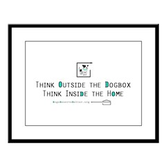 Think Outside the Dogbox Large Framed Print