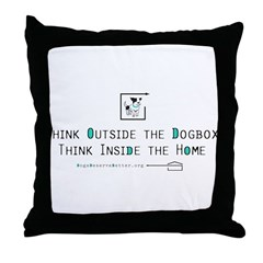 Think Outside the Dogbox Throw Pillow