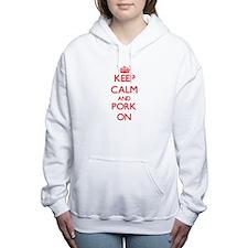 Keep Calm and Pork ON Women's Hooded Sweatshirt
