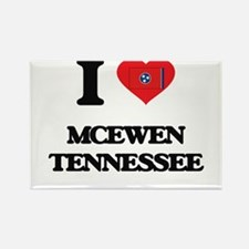 I love Mcewen Tennessee Magnets
