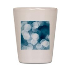 Blue abstract Shot Glass