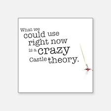 A crazy Castle theory Sticker