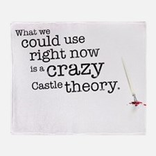 A crazy Castle theory Throw Blanket