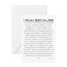 I Run Because- Good Luck Card