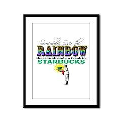 Over the Rainbow Framed Panel Print