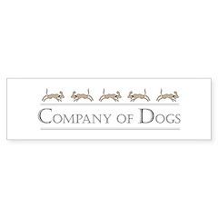 Company Of Dogs Bumper Bumper Sticker