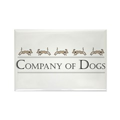 Company Of Dogs Rectangle Magnet (100 pack)