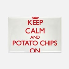 Keep Calm and Potato Chips ON Magnets