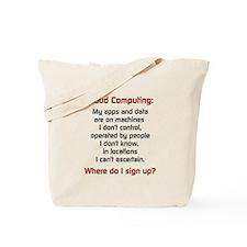 Cloud Computing Tote Bag