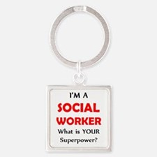 social worker Square Keychain