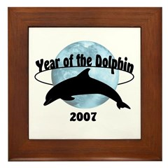 Year of the Dolphin 2007 Framed Tile