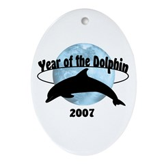Year of the Dolphin 2007 Oval Ornament