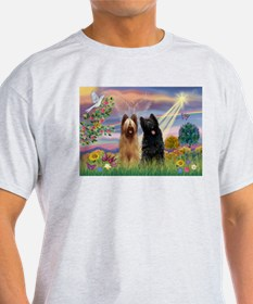 Cloud Angel & Briard Pair T-Shirt