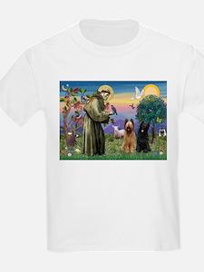 St Francis & Briard Pair T-Shirt