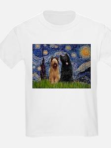 Starry Night & Briard Pair T-Shirt