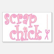 Scrap Chick Rectangle Decal