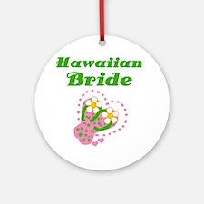 Hawaiian Bride Ornament (Round)