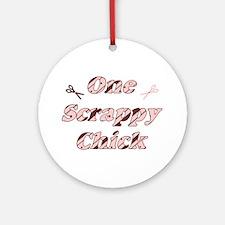 One Scrappy Chick Ornament (Round)