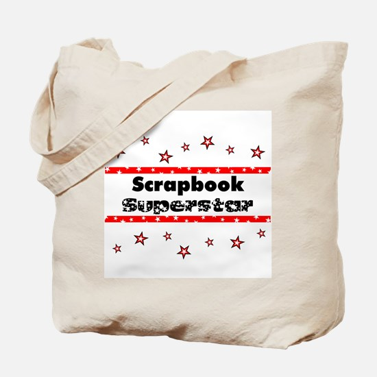 Scrapbook Superstar Tote Bag