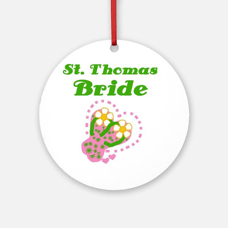St. Thomas Bride Ornament (Round)