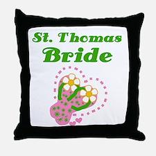 St. Thomas Bride Throw Pillow
