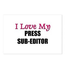 I Love My PRESS SUB-EDITOR Postcards (Package of 8