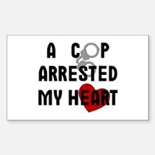 Cop Arrested Rectangle Stickers