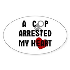 Cop Arrested Oval Stickers