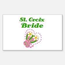 St. Croix Bride Rectangle Decal