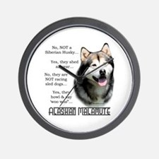 Malamute FAQ Wall Clock