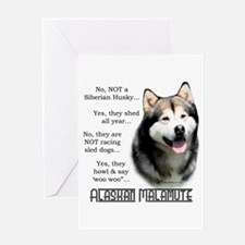 Malamute FAQ Greeting Card