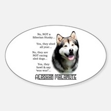 Malamute FAQ Oval Decal