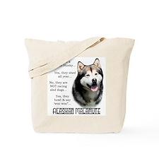 Malamute FAQ Tote Bag