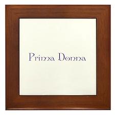 Prima Donna Framed Tile